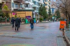 Eskisehir, Turkey - March 13, 2017:  People walking in the street Royalty Free Stock Photography