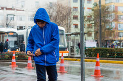 Eskisehir, Turkey - March 13, 2017: People walking in the street Stock Photography