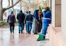 Eskisehir, Turkey - March 13, 2017: People walking in the street Royalty Free Stock Image
