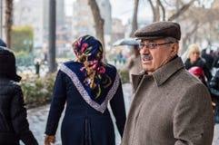 Eskisehir, Turkey - March 13, 2017: People walking in the street Stock Images
