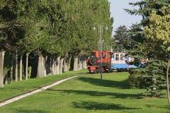 Eskisehir, Turkey. Tale castle in the Sazova park / Eskisehir, Turkey stock photo