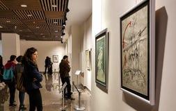 Eskisehir Turkiet - mars 4, 2017: Folk i moderna Art Ga Royaltyfria Foton