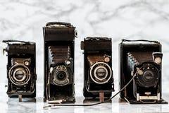 ESKISEHIR, TURKIJE - AUGUSTUS 28, 2018: Antiek Kodak, Azur, Gauthier Calmbach, de camera's van Dresden stock foto's