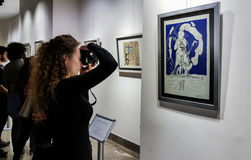Eskisehir, Turquie - 4 mars 2017 : Les gens dans Art Ga contemporain Photo libre de droits