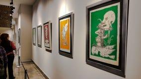 Eskisehir, Turquie - 4 mars 2017 : Les gens dans Art Ga contemporain Images stock