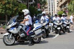 Eskorta Policyjna motocykliści w Monaco Zdjęcie Royalty Free