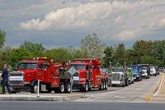 Eskortfartyg för lastbil för moderdag i Lancaster Pennsylvania arkivfoto