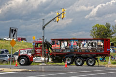Eskortfartyg för lastbil för moderdag i Lancaster Pennsylvania arkivfoton