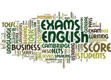 Esl Exams A Teacher S Guide Text Background Word Cloud Concept Stock Photography