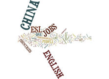 Esl Jobs An Opportunity To Teach People English Word Cloud Concept Royalty Free Stock Images