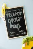 Eslogan pegadizo para el uso diario Fotografía de archivo libre de regalías