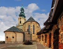 Eslováquia - castelo de Nitra no dia Imagem de Stock Royalty Free