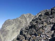 Eslováquia, montanhas de Tatra - picareta de Gerlach Tatry - szczyt Gerlacha fotografia de stock royalty free