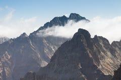 Eslováquia, montanhas de Tatra, pico de Gerlachvsky Imagens de Stock Royalty Free