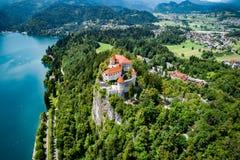 Eslovênia - lago do recurso sangrado foto de stock royalty free