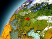 Eslovaquia de la órbita de Earth modelo Fotografía de archivo