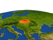 Eslovaquia en rojo de la órbita stock de ilustración