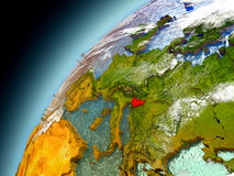 Eslovenia de la órbita de Earth modelo Imágenes de archivo libres de regalías
