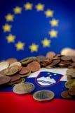 Eslovenia en crisis euro Foto de archivo libre de regalías
