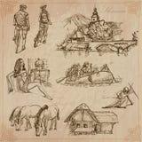 eslovenia Paquete dibujado mano del vector libre illustration