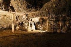 Esloveno da caverna de Postojna: Postojnska jama Fotografia de Stock