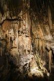 Esloveno da caverna de Postojna: Postojnska jama; Italia Foto de Stock Royalty Free