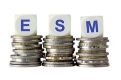 ESM - Europejski stabilność mechanizm Zdjęcie Royalty Free