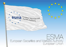 ESMA flag, European Securities and Markets Authority, European Union. Vector file, illustration Stock Images