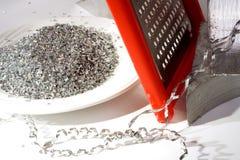 Esmagamento de um desperdício do metal Fotografia de Stock