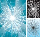 Esmagamento de vidro Imagem de Stock