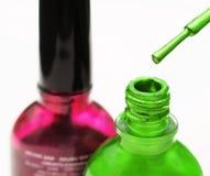 Esmalte de uñas colorido Fotos de archivo libres de regalías