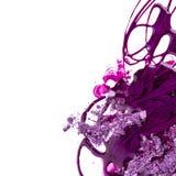 Esmalte de uñas púrpura foto de archivo