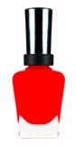Esmalte de uñas rojo Imágenes de archivo libres de regalías