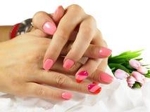 Esmalte de uñas ULTRAVIOLETA del gel imágenes de archivo libres de regalías