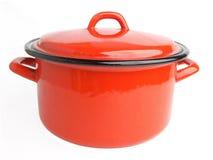 Esmalte que cocina el pote Imagen de archivo libre de regalías