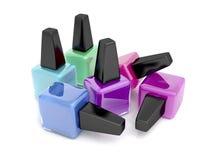 Esmaltes de uñas stock de ilustración