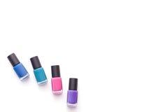 Esmaltes de uñas Fotografía de archivo libre de regalías