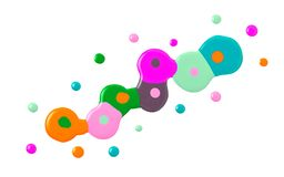 Esmaltes de uñas coloridos estropeados aislados en blanco libre illustration