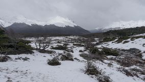 Esmeralda湖风景看法乌斯怀亚的,阿根廷,巴塔哥尼亚 免版税图库摄影