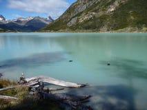 Esmeralda de Laguna em Terra do Fogo no patagonia Foto de Stock Royalty Free