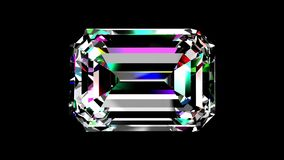 Esmeralda del diamante colocado Mate alfa ilustración del vector
