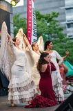 Esmeralda Enrique and her flamenco dance company during the Hispanic Fiesta Stock Image