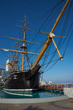 Esmeralda. Replica of the Chilean Navy ship Esmeralda that was sunk at the Battle of Iquique in 1879 during the War of the Pacific between Chile and the combined royalty free stock image