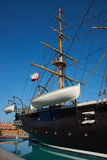 Esmeralda. Replica of the Chilean Navy ship Esmeralda that was sunk at the Battle of Iquique in 1879 during the War of the Pacific between Chile and the combined stock image