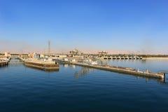 Esna ship locks in Egypt Royalty Free Stock Photos