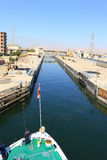 Esna ship locks in Egypt Stock Photography