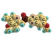 Esomeprazole molecule isolated on white Royalty Free Stock Image