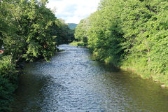 Esopus creek. Scenic view of the Esopus creek Royalty Free Stock Photos