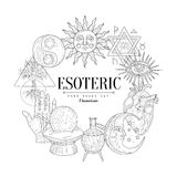 Esoteric Collection Vintage Sketch Royalty Free Stock Images