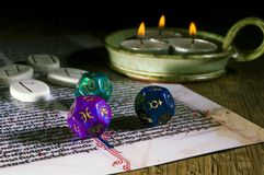 Esoteric divination royalty free stock photos